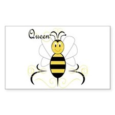 Smiling Bumble Bee Queen Bee Rectangle Decal