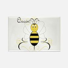 Smiling Bumble Bee Queen Bee Rectangle Magnet