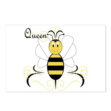 Smiling Bumble Bee Queen Bee Postcards (Package of