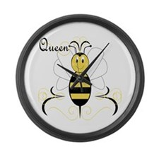 Smiling Bumble Bee Queen Bee Large Wall Clock