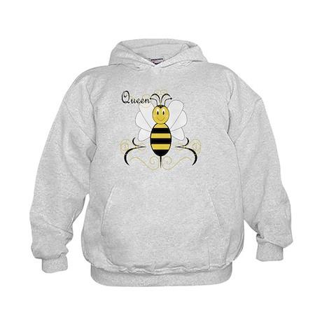 Smiling Bumble Bee Queen Bee Kids Hoodie
