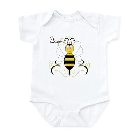 Smiling Bumble Bee Queen Bee Infant Bodysuit