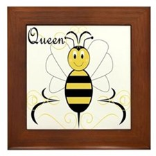 Smiling Bumble Bee Queen Bee Framed Tile