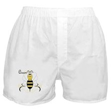 Smiling Bumble Bee Queen Bee Boxer Shorts