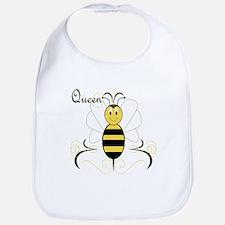 Smiling Bumble Bee Queen Bee Bib