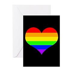 Rainbow Love Greeting Cards (Pk of 10)