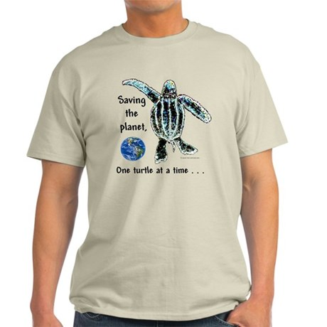 One Turtle at a Time Light T-Shirt
