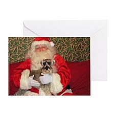 Airedale Santa Greeting Card