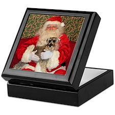Airedale Santa Keepsake Box