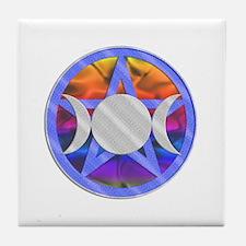 Pentagram Triple Goddess Tile Coaster