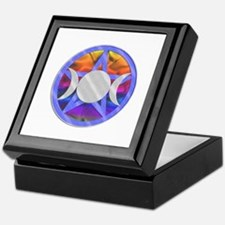 Pentagram Triple Goddess Keepsake Box