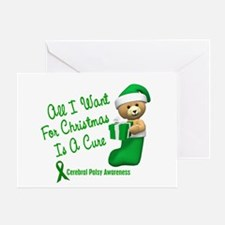 Bear In Stocking 1 (Cerebral Palsy) Greeting Card