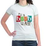 I'm A Boob Man Jr. Ringer T-Shirt