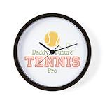 Daddy's Future Tennis Pro Wall Clock
