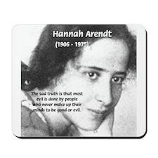 Philosopher: Hannah Arendt Mousepad