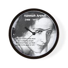 Philosopher: Hannah Arendt Wall Clock