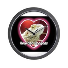 Bearded Dragons Heart Wall Clock