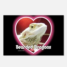 Bearded Dragons Heart Postcards (Package of 8)