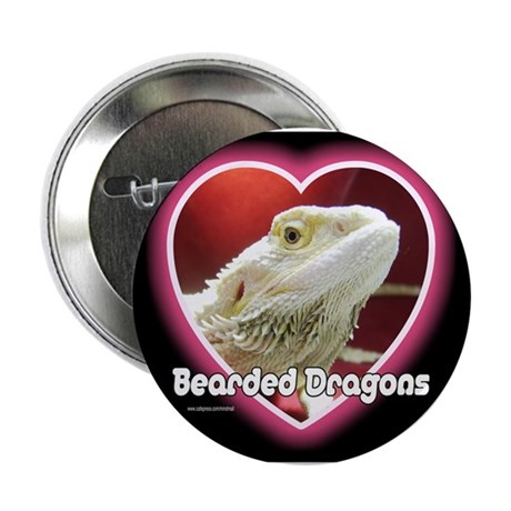 "Bearded Dragons Heart 2.25"" Button (10 pack)"
