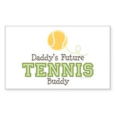 Daddy's Future Tennis Buddy Rectangle Decal