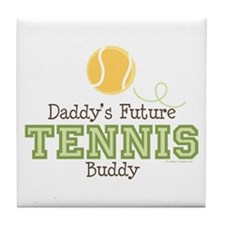 Daddy's Future Tennis Buddy Tile Coaster