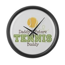 Daddy's Future Tennis Buddy Large Wall Clock