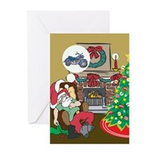 Santas Motorcycle Greeting Cards (Pk of 20)