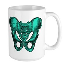 Human Anatomy Pelvis Large Coffee Mug