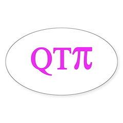QTPi Oval Sticker (10 pk)
