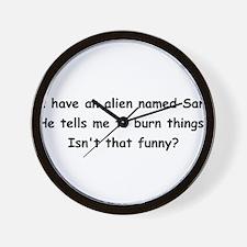 Alien named Sam Wall Clock