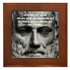Greek Philosophy: Aristotle Framed Tile
