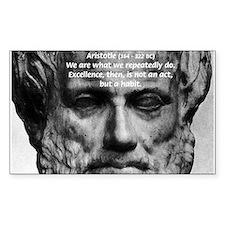 Greek Philosophy: Aristotle Rectangle Decal