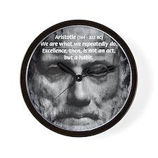 Greek Philosophy: Aristotle Wall Clock