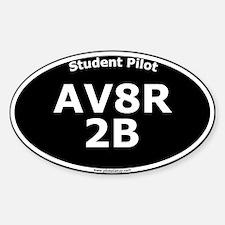 AV8R 2B Sticker (Oval, black)