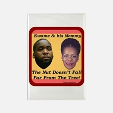 """""""Kwame & Mommy"""" Rectangle Magnet"""