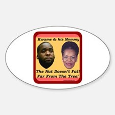 """""""Kwame & Mommy"""" Oval Decal"""