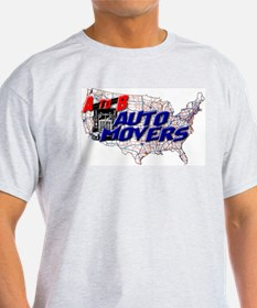 A to B Auto Movers Ash Grey T-Shirt