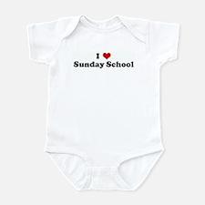 I Love Sunday School Infant Bodysuit
