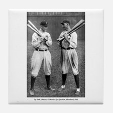 Tile Coaster TY COBB AND SHOELESS JOE