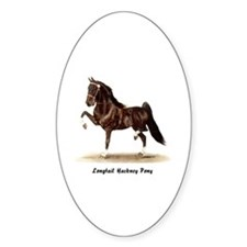 Hackney Pony Oval Decal