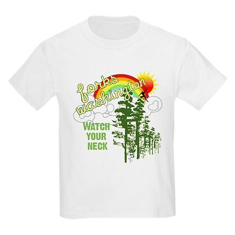 Forks Washington Twilight Kids Light T-Shirt