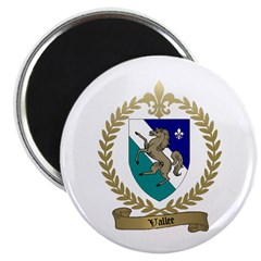 VALLEE Family Crest Magnet