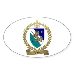 VALLEE Family Crest Oval Decal