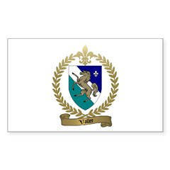VALLEE Family Crest Rectangle Decal