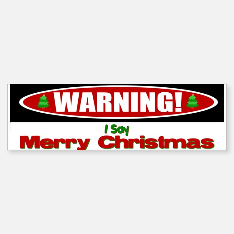 Warning! Bumper Bumper Bumper Sticker