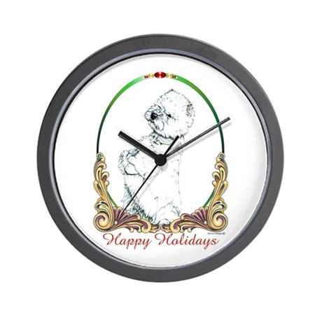 West Highland Westie Holiday Wall Clock