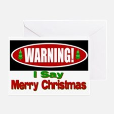 Warning! Greeting Card