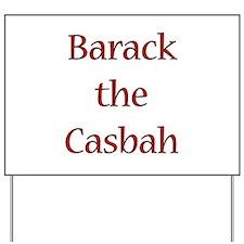 Funny Rock casbah Yard Sign