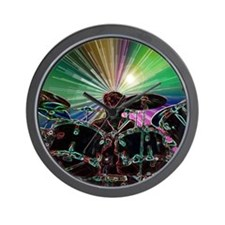 Starburst Drum Rocker Wall Clock
