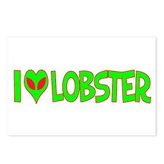 I Love-Alien Lobster Postcards (Package of 8)